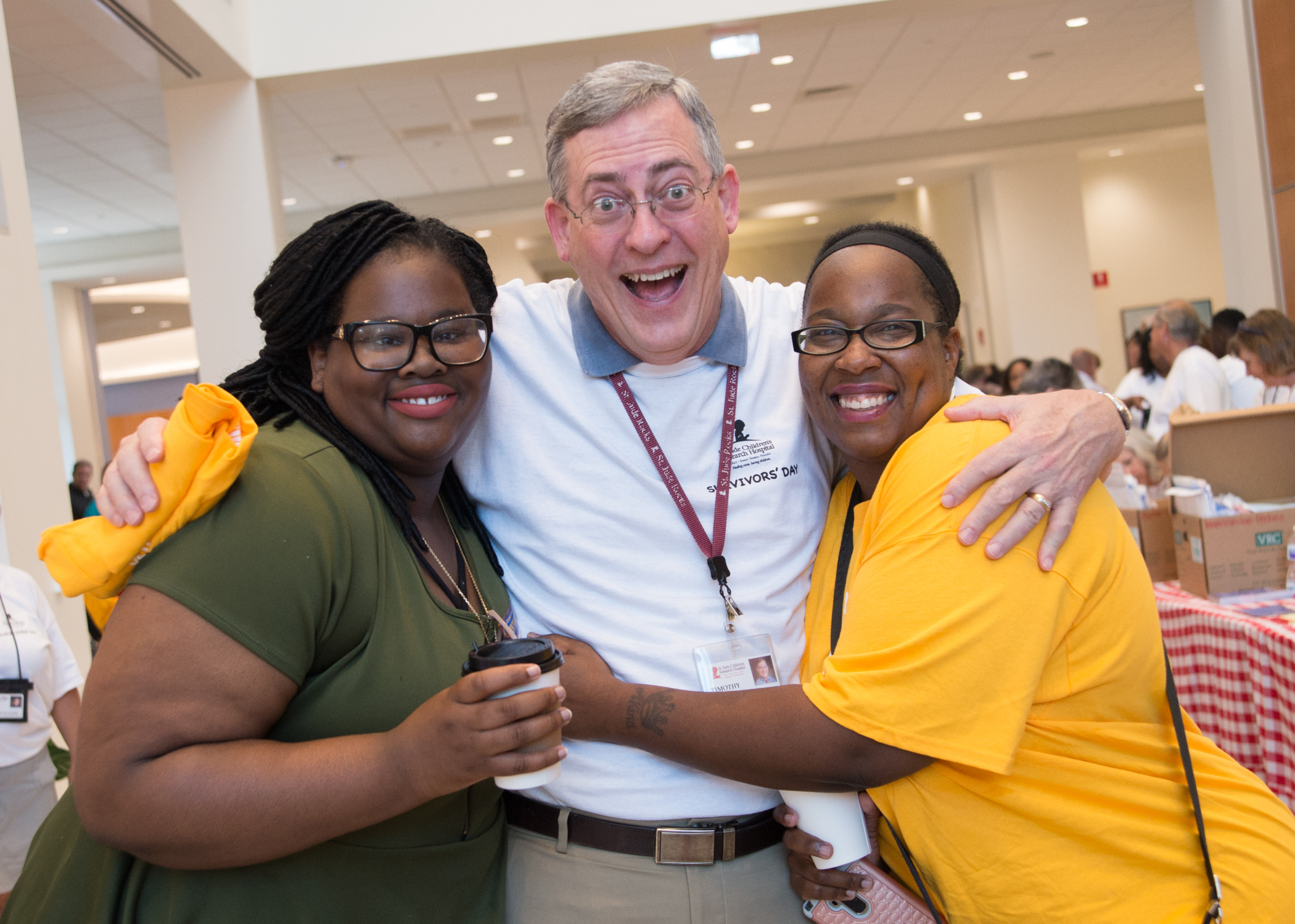 Tim Folse, MD, and volunteers during Survivors Day