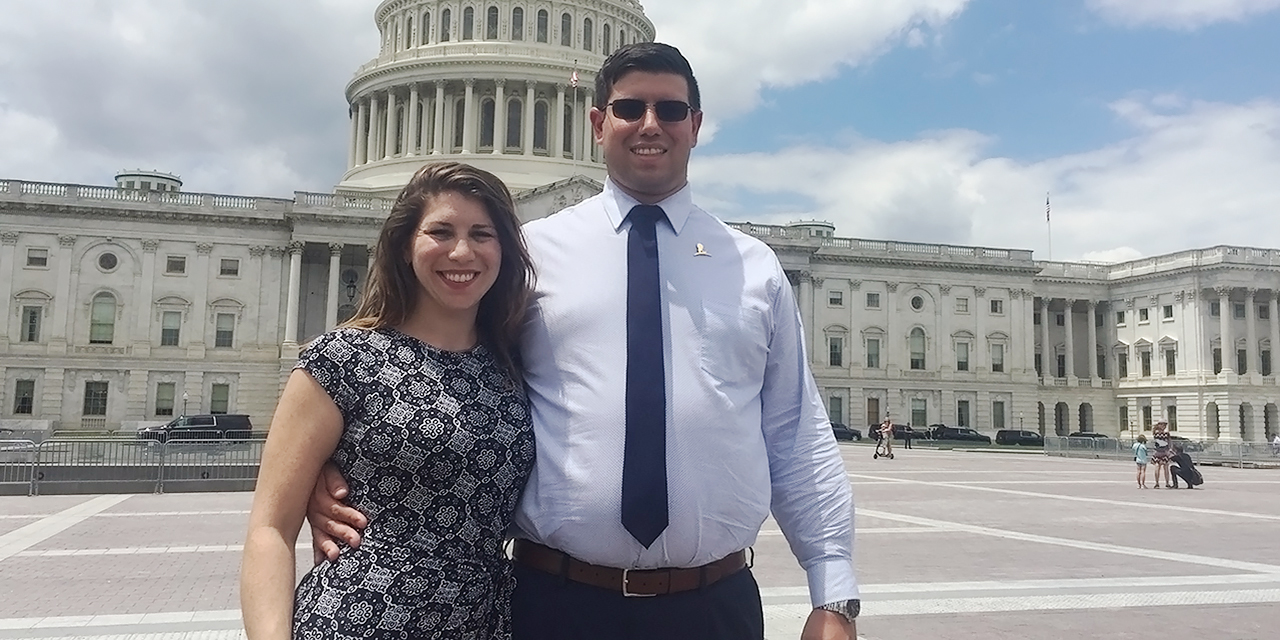 Adult pediatric cancer survivor represents St. Jude on Capitol Hill